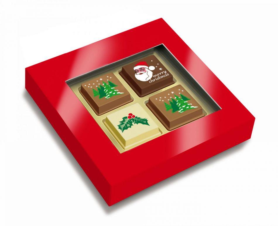 Kerstchocolade bonbons 4 stuks