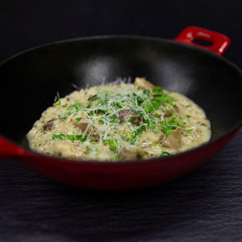 Truffel Risotto met gebakken paddenstoel