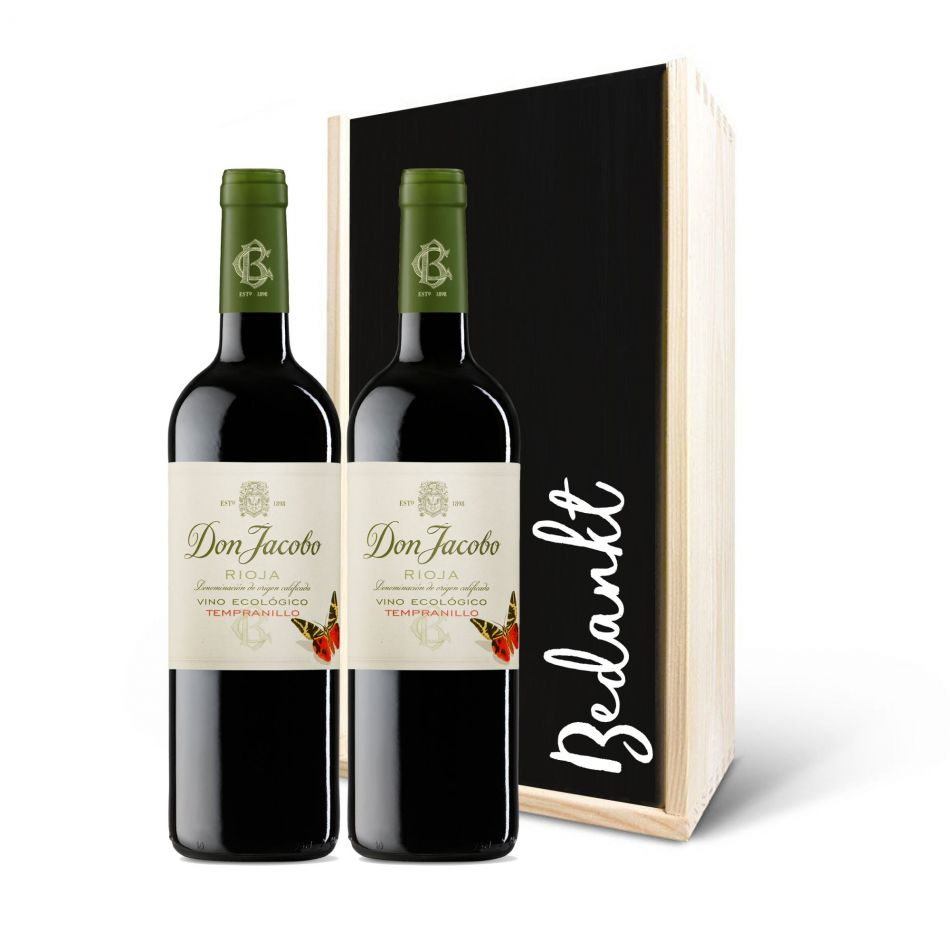 Wijnpakket Don Jacobo Viticultura Ecologico Rood, 2 fles - BIO